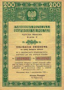 Obligacje skarbowe z 1951 roku